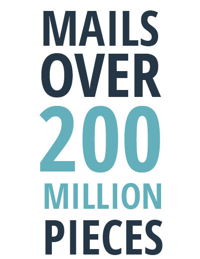 Mails OVer 100 Million Pieces